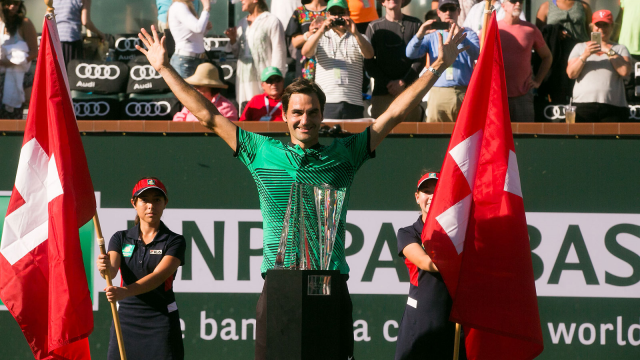 FEDERER VICTORIOUS AT INDIAN WELLS