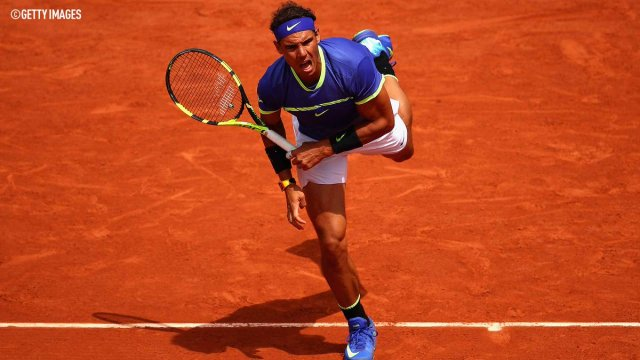 NADAL AT ROLAND GARROS