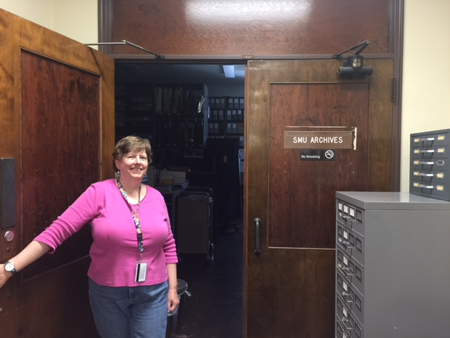 JOAN AT ARCHIVES ENTRANCE