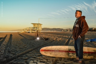 PINTO STANDING SURFER BEACH
