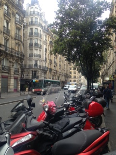 MOTORCYCLES ON RUE BEAUBOURG