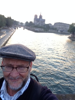 SELFIE AT SUNSET ON THE SEINE