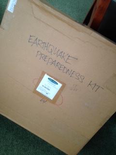 EARTHQUAKE PREPAREDNESS KIT 0LD BOX